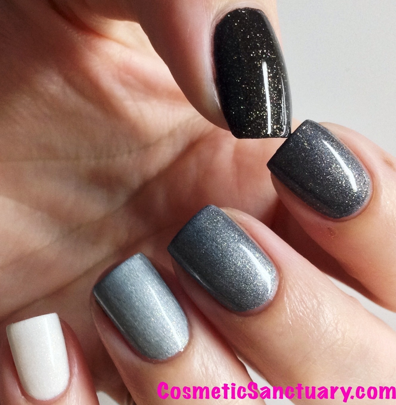How To Do Ombre Nail Polish: Mentality Nail Polish Greyscale Golds Ombre Set Swatches