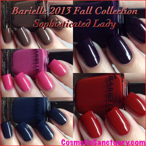 Barielle Sophisticated Lady Fall 2013 Collection Swatches and Review