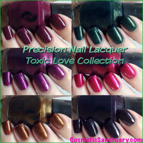 Precision Nail Lacquer Toxic Love Collection Swatches and Review