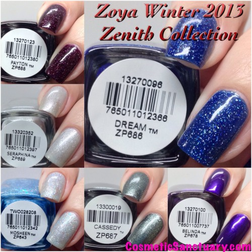 Zoya Winter 2013 Zenith Collection Swatches and Review