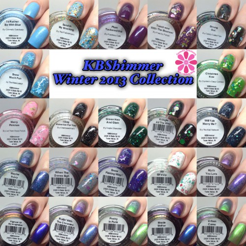 KBShimmer Winter 2013 Collection Part 2 Swatches and Review