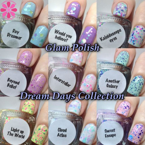 Glam Polish Dream Days Collection Swatches and Review