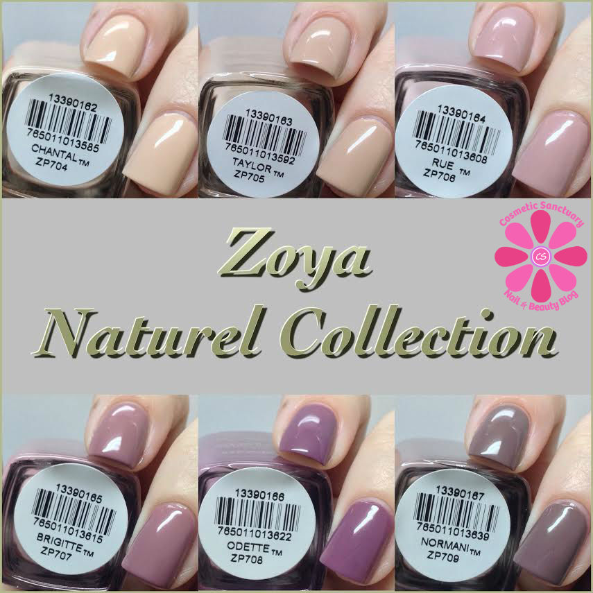 Zoya Naturel Collection Swatches and Review