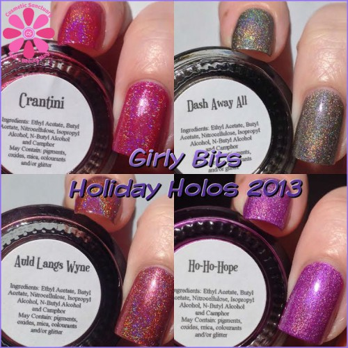 Girly Bits Holiday Holos 2013 Swatches and Review