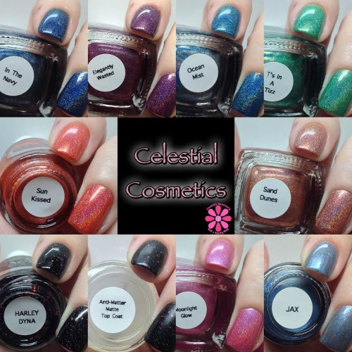 Celestial Cosmetics Nail Lacquer Swatches & Review