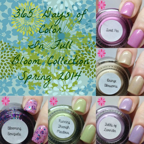 365 Days of Color In Full Bloom 2014 Spring Collection Swatches & Review