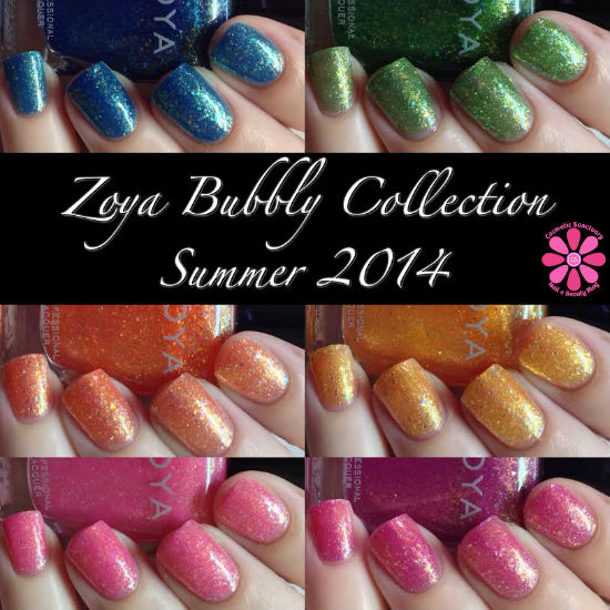 Zoya Summer 2014 Bubbly Collection Swatches, Review & Giveaway