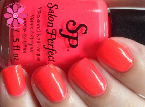 Salon Perfect Neon POP Nail Lacquer Duo Swatches & Review - Cosmetic ...