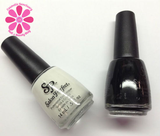 Salon Perfect Lacquer Basics Duo Oil Slick & Sugar Cube Swatches, Review & Nail Art