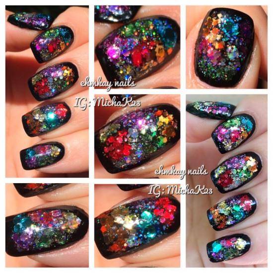 Guest Post: Color Block Glitter Framed Nail Art with Ehmkay Nails
