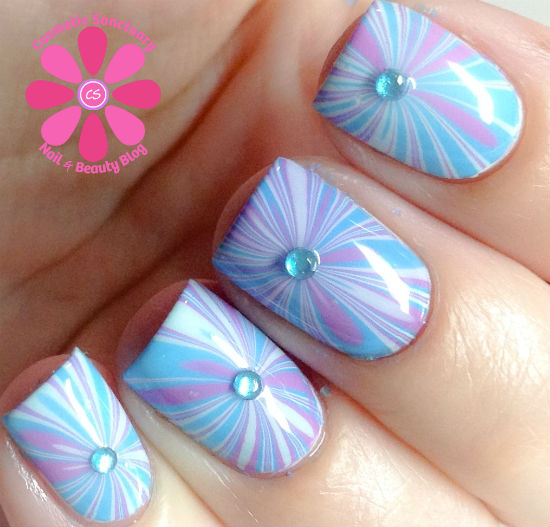 Milani Starburst Water Marble Nail Art Tutorial Cosmetic Sanctuary