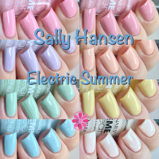 Sally Hansen Xtreme Wear Electric Summer Collection Swatches & Review