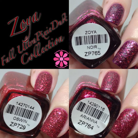 Zoya Fall 2014 Ultra PixieDust Collection Swatches & Review