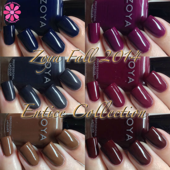 Zoya Fall 2014 Entice Collection Swatches & Review