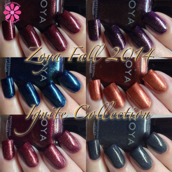 Zoya Fall 2014 Ignite Collection Swatches & Review