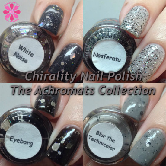 Chirality Nail Polish The Achromats Collection Swatches & Review