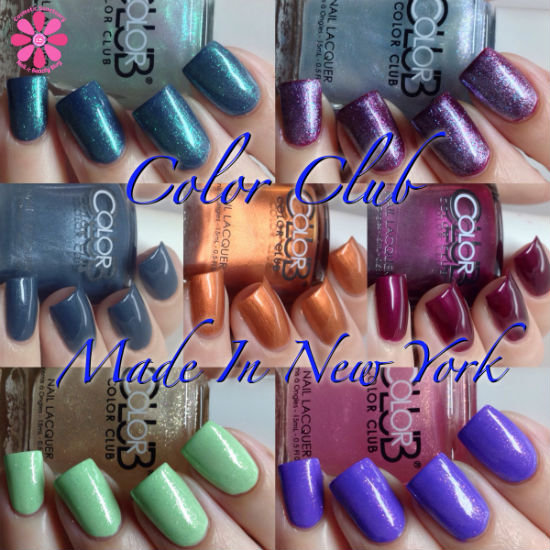 Color Club Made In New York Holiday 2014 Collection Swatches & Review