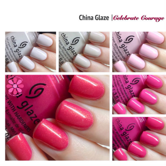 China Glaze Celebrate Courage Collection for Breast Cancer Awareness 2014 Swatches & Review