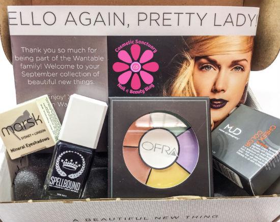 Wantable September 2014 Makeup Box Reveal