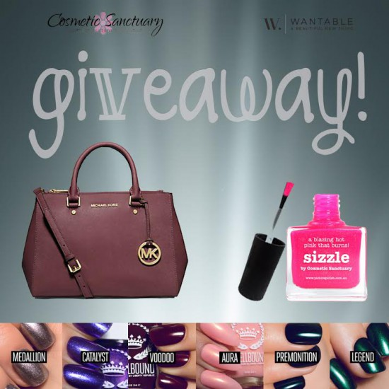 Cosmetic Sanctuary & Wantable Michael Kors Sutton Medium Saffiano Leather Satchel Giveaway