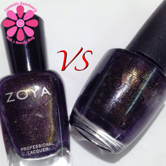 Zoya Sansa & OPI First Class Desires Comparison