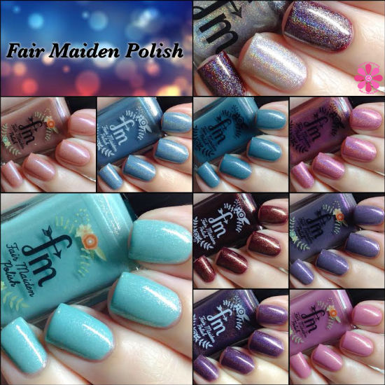 Fair Maiden Polish Be Your Own Heroine Collection Swatches & Review