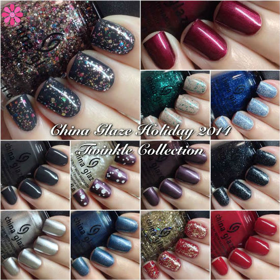 China Glaze Holiday 2014 Twinkle Collection Swatches & Review