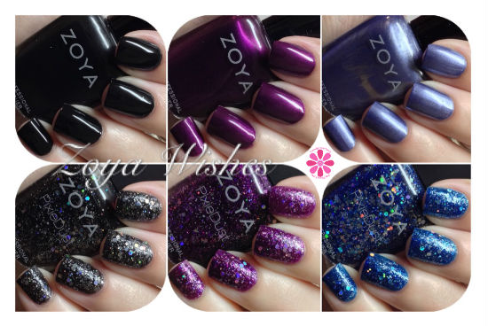 Zoya Winter/Holiday 2014 Wishes Collection Swatches & Review