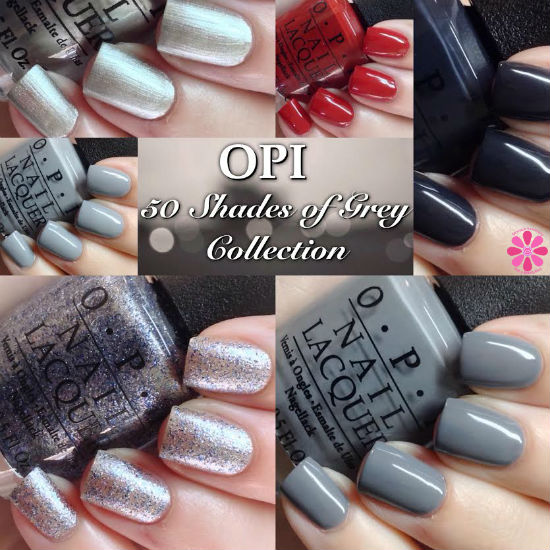 OPI 50 Shades of Grey Collection Swatches & Review