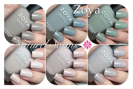 Zoya Naturel Satins Collection Swatches & Review