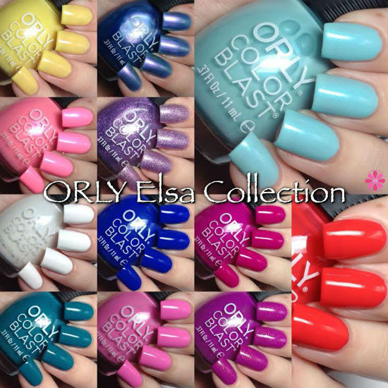 ORLY Color Blast Limited Edition Elsa (Frozen) Collection Swatches & Review