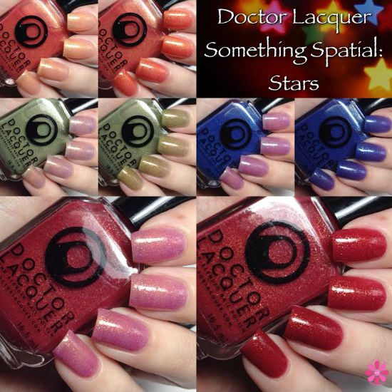 Doctor Lacquer Something Spatial Stars Collection Swatches & Review