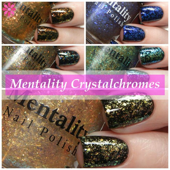Mentality Nail Polish Crystalchromes Collection Swatches & Review