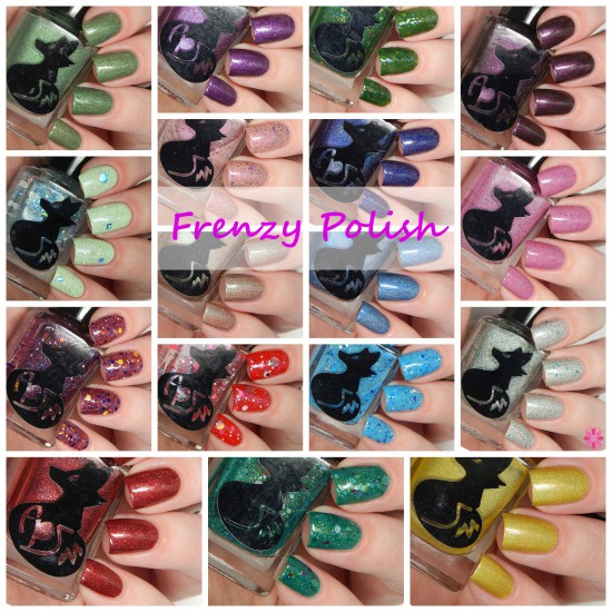 Frenzy Polish Spring 2015 Collection Swatches & Review