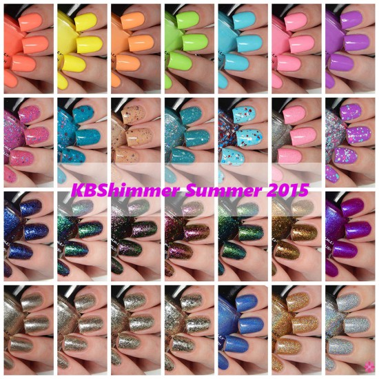 KBShimmer Full Summer 2015 Collection Swatches & Review