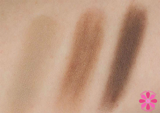 Brow Trio swatches