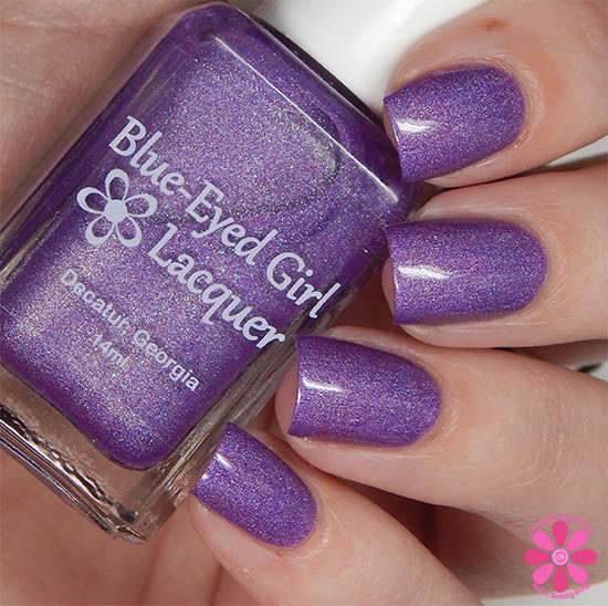 June Addicted To Holos Blue Eyed Girl Lacquer Bikinis and Flip Flops Swatch
