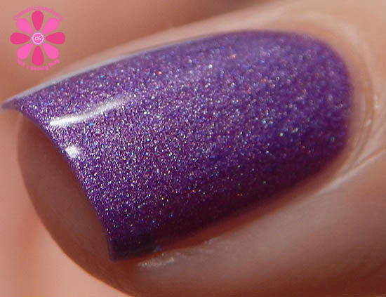 June Addicted To Holos Blue Eyed Girl Lacquer Bikinis and Flip Flops Swatch macro