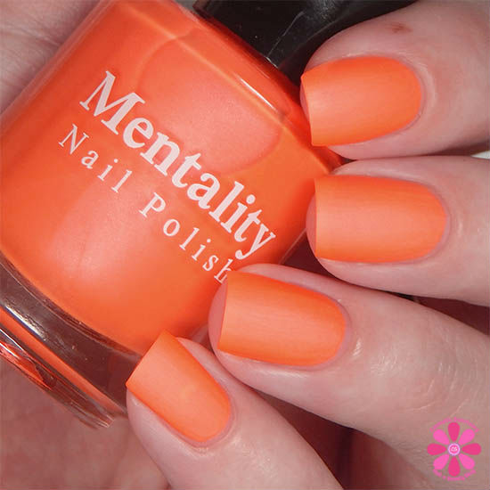 Mentality Nail Polish Neon Mattes Collection Extirpate Swatch