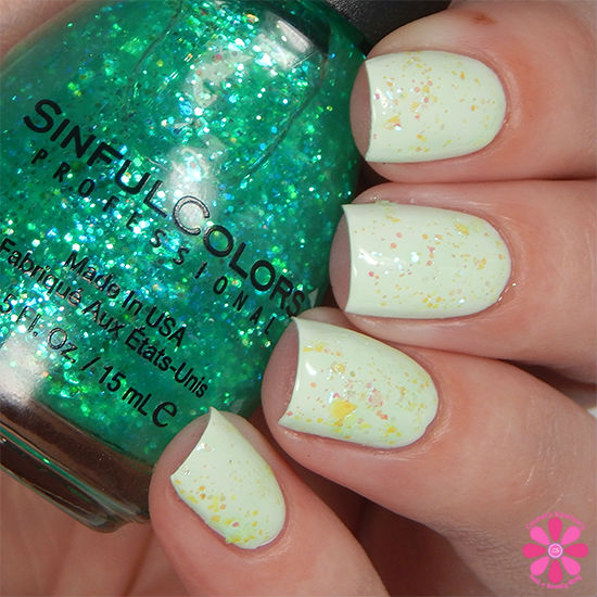 SinfulColors Having A Blast Collection Green Ocean Swatch
