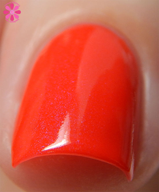 ORLY Color Blast Disney Ariel Collection Hidden Treasures Swatch front macro
