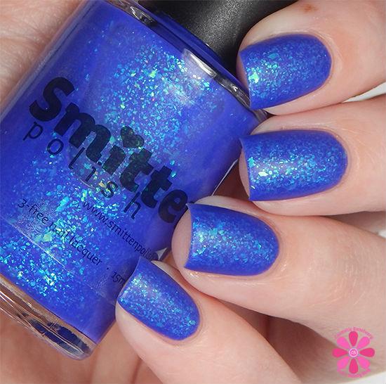 Smitten Polish Summer 2015 Neon Flakes Collection Ice Pop Paradise Swatch matte