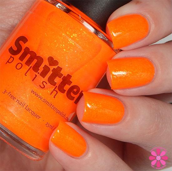 Smitten Polish Summer 2015 Neon Flakes Collection Jar Of Sunshine Swatch
