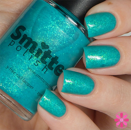 Smitten Polish Summer 2015 Neon Flakes Collection Lazy River Swatch