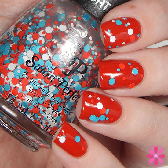 Salon Perfect Rockin The Red, White & Blue Collection Liberty Bubbles Swatch