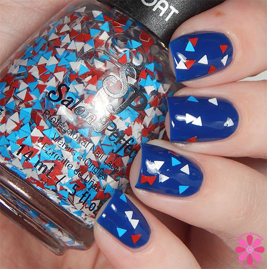 Salon Perfect Rockin The Red, White & Blue Collection Pa-TRI-otic Swatch