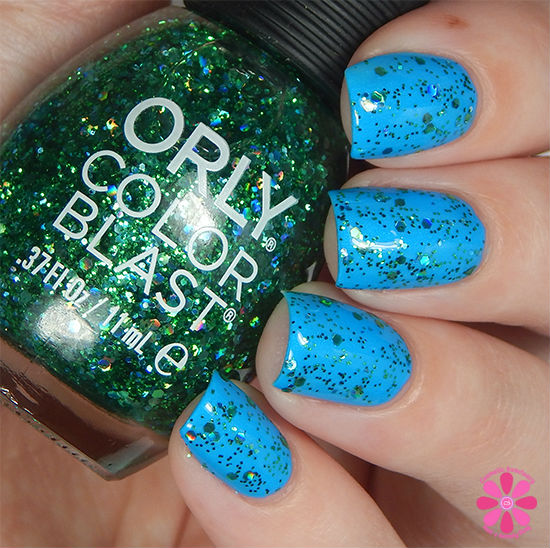 ORLY Color Blast Disney Ariel Collection Part Of Your World Swatch