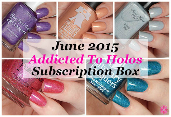 June Addicted to Holos Indie Box Reveal, Swatches & Review
