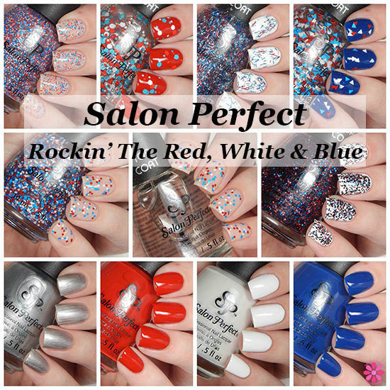 Salon Perfect Rockin the Red, White & Blue Collection Swatches & Review