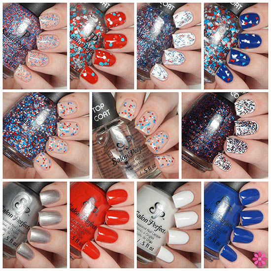 Salon Perfect Rockin' The Red, White & Blue Collection Swatches